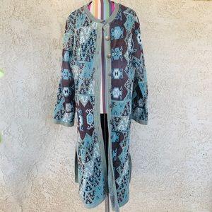 Soft Surroundings Long Knit Button Down Cardigan